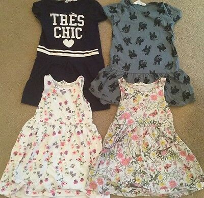 Pre Owned Lot Of H@M Girls Size 2-4 years sleeveless dresses