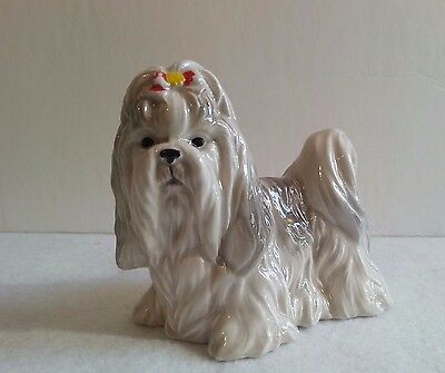 Vintage Collectors  Lhasa Apso Porcelain Figurine Numbered A693 Made in Japan