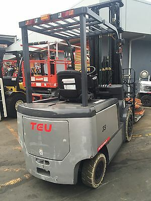 TEU Electric Forklift 3.5T 6m Lift Container Mast Fork Positioner $37,499+GST