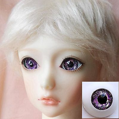 Glitter Purple - BJD Eyes - 12mm 14mm 16mm 18mm 20mm 22 MSD SD13/10 Doll Dollfie