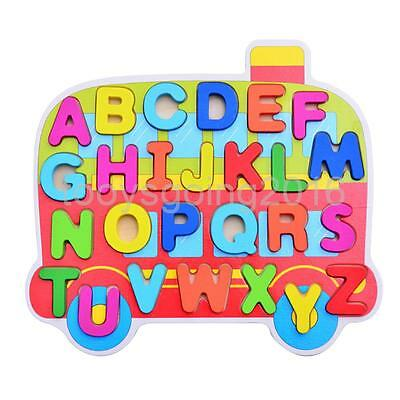 Kids Cartoon Wooden Puzzle Alphabet Blocks Educational Toys for Boys Girls