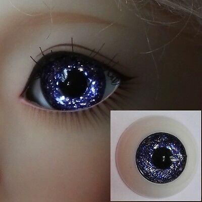 Glitter Blue - BJD Eyes - 12mm 14mm 16mm 18mm 20mm 22 MSD SD13/10 Doll Dollfie