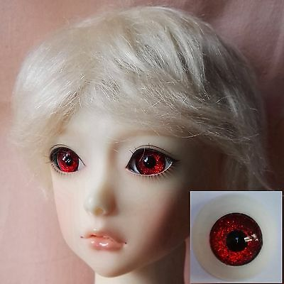 Red - BJD Eyes - 8mm 10 12 14 16 18 20 22 MSD SD13/10 Doll Dollfie