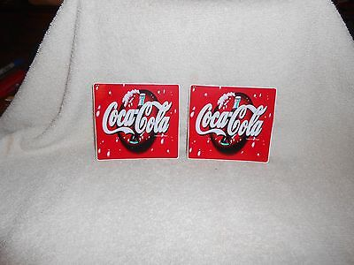 Coca-Cola Peel & Stick Decals--Lot of 2--4 1/4 inches wide
