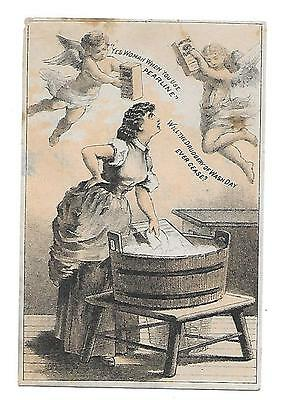 Pyle's Pearline Soap Victorian Trade Card Cruelty To Women