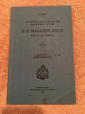 Original United States Rifle Caliber .30 Model of 1903 1908 Hardback