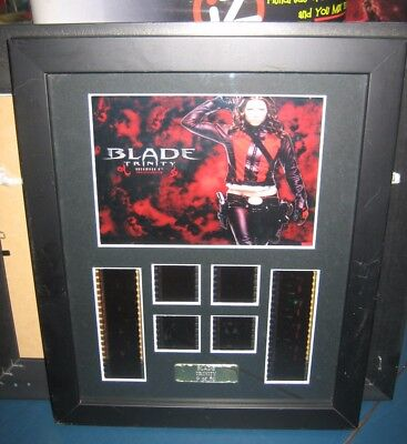 Blade Trinity Jessica Biel Framed Picture Film Cell LE9/50 Vampire Movie Marvel