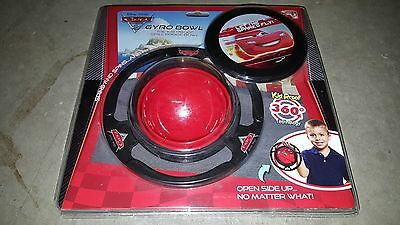 Disney Pixar Cars McQueen Gyro Non-Spill Toddler Baby Bowl Kid Proof - New