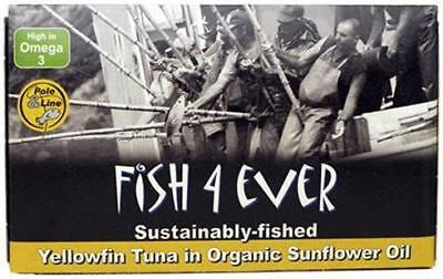 Fish 4 Ever Yellowfin Tuna in Sunflower Oil 120g