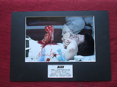 "Alien ""kane"" Actor John Hurt Genuine Hand Signed A3 Mounted Photo Display - Coa"