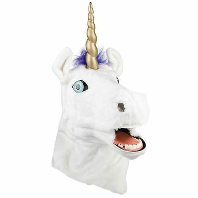 Thumbs Up Mr Unicorn Moving Mouth Head Mask Fancy Dress
