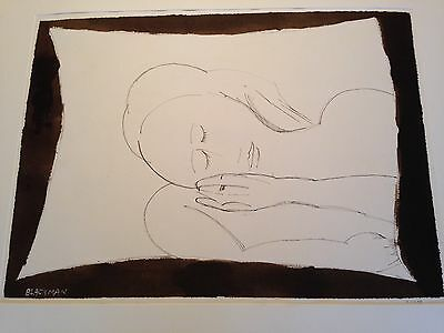 Large, Signed Charles Blackman Pen, Ink & Wash, Circa 1990 With Full Provenance