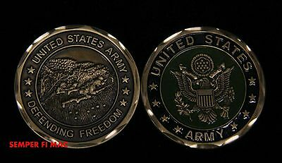 Us Army Challenge Coin Defending Freedom Usa Veteran Gift Soldiers Heros Usa Wow