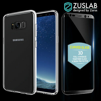 Galaxy S8 S8 Plus Slim Hybrid Case Tempered Glass Screen Protector for Samsung