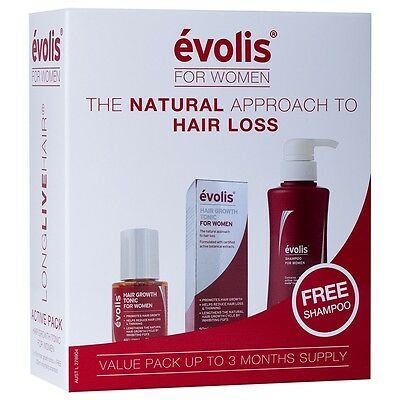 Evolis Starter Pack for Women 3 pack | Hair Growth Tonic & Shampoo | 3 Months