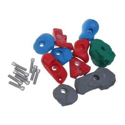 10Pcs Training Climbing Holds Hand Holds Bolt On Stones Hardware Swing Set