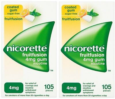 Nicorette 4mg Gum Nicotine 210 Pieces - FreshFruit Flavour (11/2017) Fresh Fruit