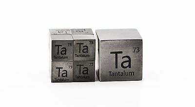 Tantalum Metal 10mm Density Cube 99.95% Pure for Element Collection