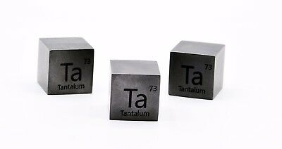 Tantalum Metal 20mm Density Cube 99.95% Pure for Element Collection
