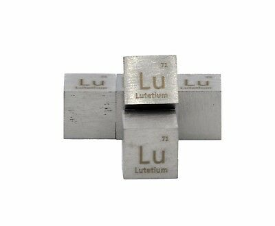 Lutetium Metal 10mm Density Cube 99.95% Pure for Element Collection