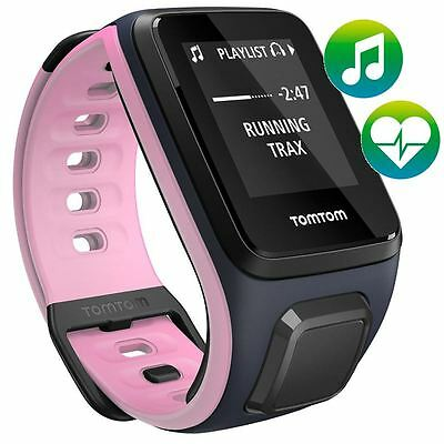 TomTom Spark - Cardio - Music - Small - Pink Blue - GPS MultiSport Watch