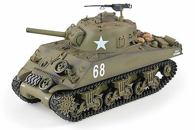 SALE NEW THE FURY Smoke & Sound 2.4Ghz M4A3 Sherman Radio Control RC Battle Tank