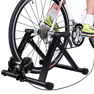 Black Bicycle Turbo Trainer MTB Magnetic Stand Trainer Exercise Foldable Indoor