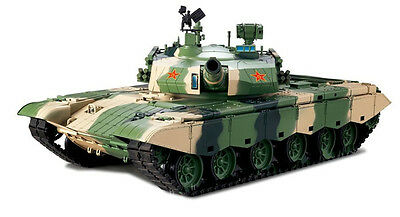 Heng Long China Army T99 1/16 RTR RC Tank Upgraded 2.4Ghz SOUND SMOKE BB 3899-1