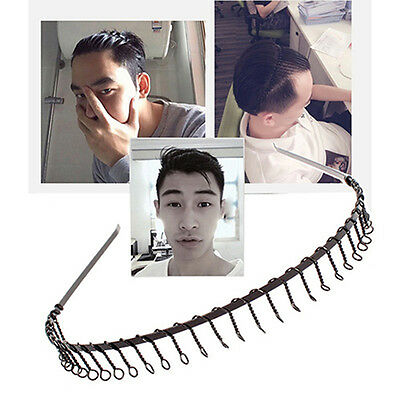 2x SPORT HAIRBAND MENS HEADBAND TOOTHED METAL FOOTBALL HAIR BAND WOMEN MEN.