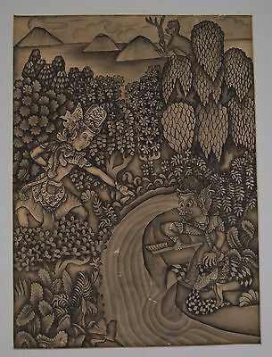"Anonymous ""scene from the Ramayana"", Batuan. Bali, 1930-1940"