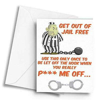 A5 Greetings Card Get Out of Jail Free Valentines