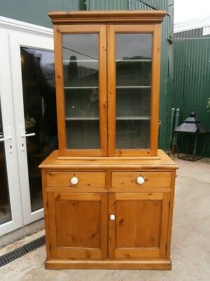 Victorian Glazed Topped Dresser/Bookcase.