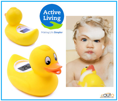 Digital Baby Bath Thermometer Water Sensor Safety Duck Floating Toy Bathroom Fun