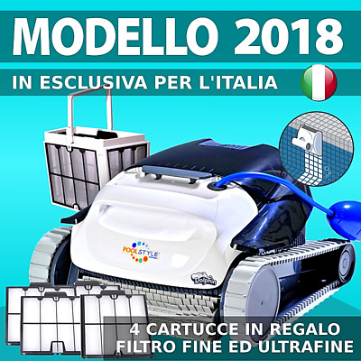 DOLPHIN MAYTRONICS POOLSTYLE AG PLUS ULTRACLEAN Robot Elettrico Pulitore Piscina