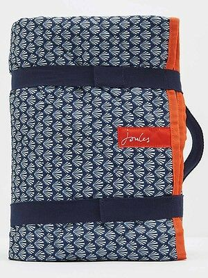 Joules Family Size Waterproof Picnic Rug - French Navy Shells