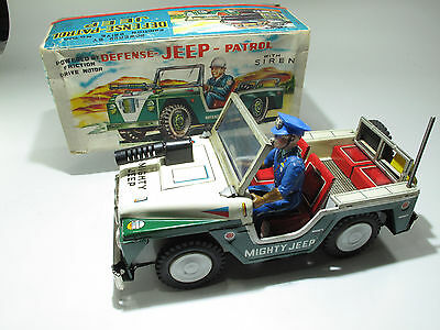 ATC JAPAN Tin Toy,MIGHTY Jeep, 30cm, im Original Karton,VERRY RAR