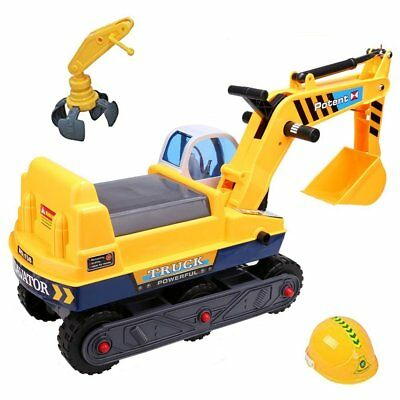 deAO 2 in 1 Children's Ride-on Excavator Digger / Tractor