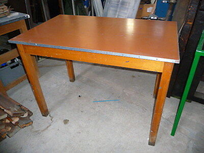 Vintage Retro School Pottery Class Craft Dining Table 1230Mm