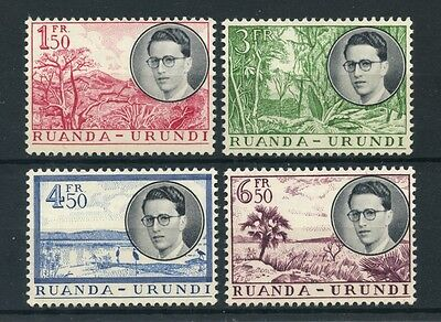 1955 - RUANDA URUNDI - RE BALDOVINO 4v. - NUOVI - LOTTO/25356