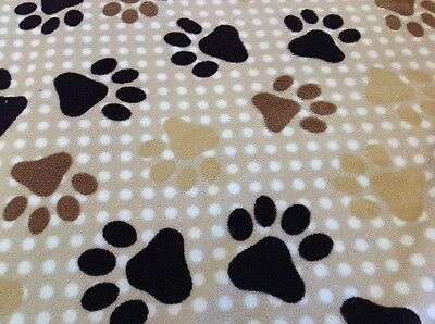 Dog Paw Print Fleece - Blanket Supersoft Fabric - 11610