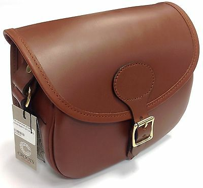 Croots Byland 100 Leather Cartridge Clay Shooting Bag - London Tan