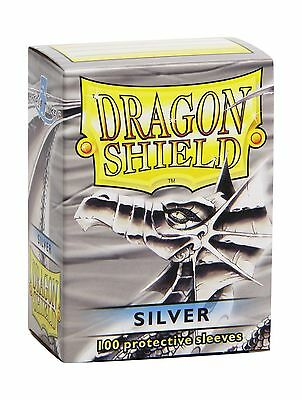 Dragon Shield Sleeves - SILVE - Standard Size Deck Protectors (100 ct) Arcane...