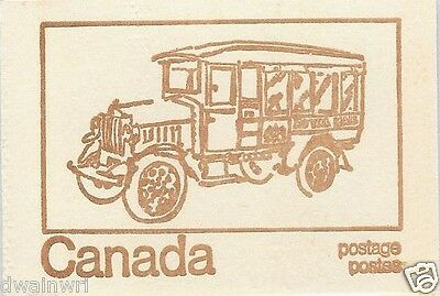 Canada 1971 Centennial Booklet UNI #BK69f - Cover: Royal Mail Truck 1921