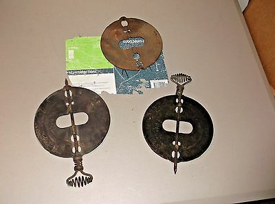 Vintage Lot of 3 Griswold New American Erie PA 7in Steel Spindle Reversible