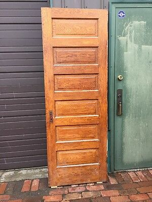 Ark 2 Antique Oak Six Raise Panel Passage Door 30 X 83 And Five Eights