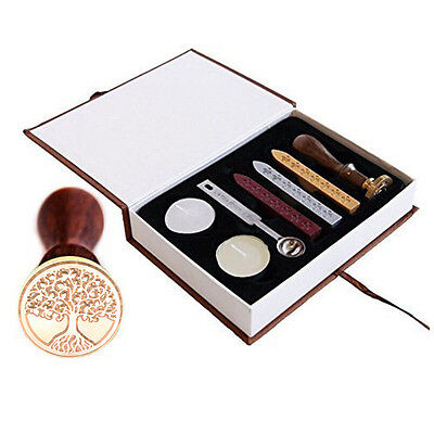 Unique Arts & Crafts the Tree of Life Wax Seal Stamp Vintage Box Set Gift