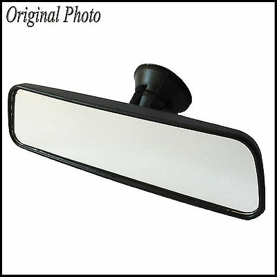 Car Wide Interior Rear View Mirror Suction Cup Van Bus Auto 25 cm Driving Glass