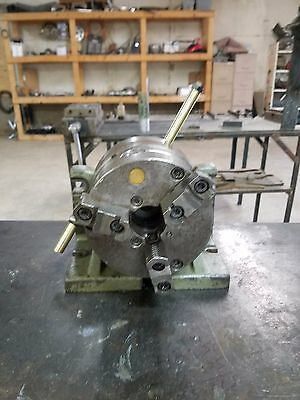 """Bison """"Super Spacer"""" Indexing Head with 6"""" 3-Jaw Chuck"""