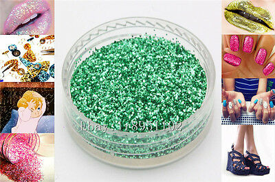 Apple Green 10g Nail Art GLITTER Sequins crafts DIY makeup Powder Crystals 1Pack
