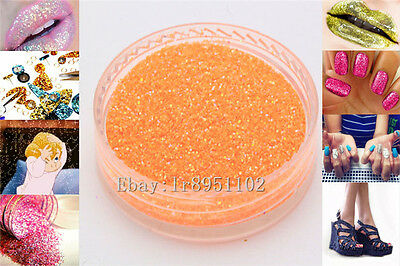 Orange AB 10g Nail Art GLITTER Sequins crafts DIY makeup Powder Crystals 1 Pack